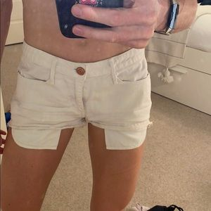 Earnest Sewn White Jean short